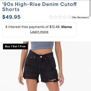 Black 90s cut off shorts